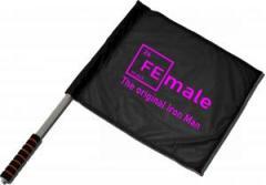 """Zum/zur  Fahne / Flagge (ca 40x35cm) """"Female"""" für 11,00 € gehen."""