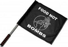 """Zum/zur  Fahne / Flagge (ca. 40x35cm) """"Food Not Bombs"""" für 11,00 € gehen."""