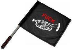 """Zum/zur  Fahne / Flagge (ca. 40x35cm) """"Fuck Trompete"""" für 11,00 € gehen."""