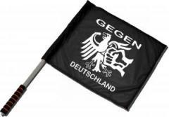 """Zum/zur  Fahne / Flagge (ca. 40x35cm) """"Gegen Deutschland"""" für 11,00 € gehen."""