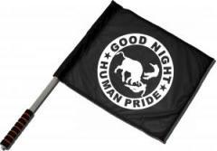 """Zum/zur  Fahne / Flagge (ca. 40x35cm) """"Good night human pride"""" für 11,00 € gehen."""