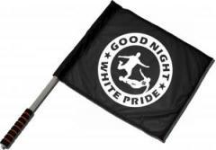 """Zum/zur  Fahne / Flagge (ca. 40x35cm) """"Good night white pride - Fußball"""" für 11,00 € gehen."""