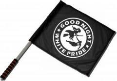 """Zum/zur  Fahne / Flagge (ca. 40x35cm) """"Good night white pride - Hexe"""" für 11,00 € gehen."""