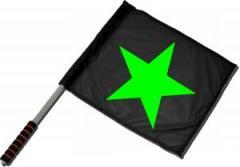 """Zum/zur  Fahne / Flagge (ca. 40x35cm) """"Grüner Stern"""" für 11,00 € gehen."""