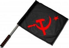 """Zum/zur  Fahne / Flagge (ca 40x35cm) """"Hammer und Sichel mit Stern"""" für 11,00 € gehen."""