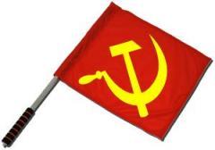 """Zum/zur  Fahne / Flagge (ca. 40x35cm) """"Hammer und Sichel (rot / gelb)"""" für 10,72 € gehen."""