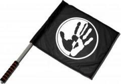 """Zum/zur  Fahne / Flagge (ca. 40x35cm) """"Hand"""" für 11,00 € gehen."""