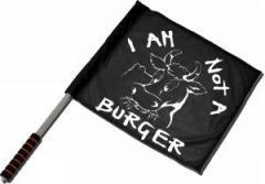 "Zum/zur  Fahne / Flagge (ca. 40x35cm) ""I am not a burger"" für 11,00 € gehen."