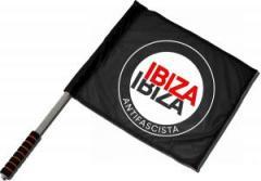 """Zum/zur  Fahne / Flagge (ca. 40x35cm) """"Ibiza Ibiza Antifascista (Schrift)"""" für 11,00 € gehen."""