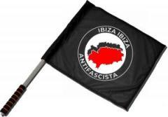 """Zum/zur  Fahne / Flagge (ca. 40x35cm) """"Ibiza Ibiza Antifascista"""" für 11,00 € gehen."""