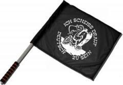 """Zum/zur  Fahne / Flagge (ca. 40x35cm) """"Ich scheiß drauf deutsch zu sein"""" für 11,00 € gehen."""