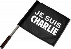 """Zum/zur  Fahne / Flagge (ca. 40x35cm) """"Je suis Charlie"""" für 11,00 € gehen."""