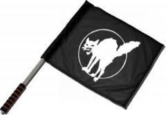 """Zum/zur  Fahne / Flagge (ca 40x35cm) """"Katze"""" für 11,00 € gehen."""