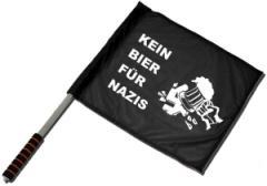 """Zum/zur  Fahne / Flagge (ca. 40x35cm) """"Kein Bier für Nazis"""" für 11,00 € gehen."""