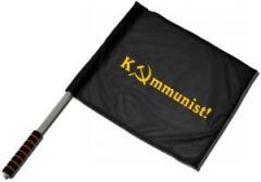 """Zum/zur  Fahne / Flagge (ca. 40x35cm) """"Kommunist!"""" für 11,00 € gehen."""