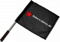 """Zum/zur  Fahne / Flagge (ca 40x35cm) """"linke-t-shirts.de"""" für 11,00 € gehen."""