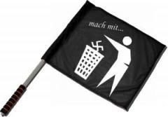 """Zum/zur  Fahne / Flagge (ca 40x35cm) """"Mach mit ..."""" für 11,00 € gehen."""
