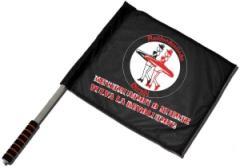 """Zum/zur  Fahne / Flagge (ca. 40x35cm) """"Menstruation o muerte"""" für 13,00 € gehen."""