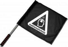 """Zum/zur  Fahne / Flagge (ca. 40x35cm) """"Nationalstolz"""" für 11,00 € gehen."""