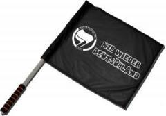 """Zum/zur  Fahne / Flagge (ca. 40x35cm) """"Nie wieder Deutschland"""" für 11,00 € gehen."""