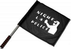 "Zum/zur  Fahne / Flagge (ca 40x35cm) ""Nique la police"" für 11,00 € gehen."