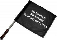 """Zum/zur  Fahne / Flagge (ca. 40x35cm) """"No Border - No Nation - Stop Deportation"""" für 11,00 € gehen."""