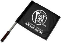 """Zum/zur  Fahne / Flagge (ca. 40x35cm) """"no gods no master - against all authority - ANARCHISM"""" für 10,72 € gehen."""