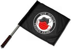 """Zum/zur  Fahne / Flagge (ca. 40x35cm) """"Nur Idioten tragen keine"""" für 11,00 € gehen."""
