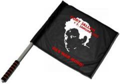 """Zum/zur  Fahne / Flagge (ca. 40x35cm) """"Oury Jalloh - 7. Januar 2005"""" für 11,00 € gehen."""