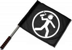 """Zum/zur  Fahne / Flagge (ca. 40x35cm) """"Punker mit Molli"""" für 11,00 € gehen."""
