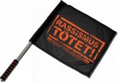 """Zum/zur  Fahne / Flagge (ca. 40x35cm) """"Rassismus tötet!"""" für 11,00 € gehen."""