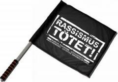 """Zum/zur  Fahne / Flagge (ca 40x35cm) """"Rassismus tötet!"""" für 11,00 € gehen."""
