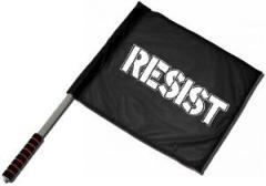 """Zum/zur  Fahne / Flagge (ca. 40x35cm) """"Resist"""" für 11,00 € gehen."""