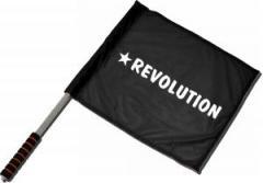 """Zum/zur  Fahne / Flagge (ca. 40x35cm) """"Revolution"""" für 11,00 € gehen."""