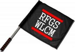 """Zum/zur  Fahne / Flagge (ca. 40x35cm) """"RFGS WLCM"""" für 11,00 € gehen."""