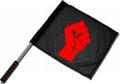 """Zum/zur  Fahne / Flagge (ca. 40x35cm) """"Rote Faust"""" für 11,00 € gehen."""