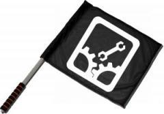 """Zum/zur  Fahne / Flagge (ca. 40x35cm) """"Sabotage"""" für 11,00 € gehen."""