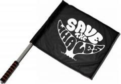 """Zum/zur  Fahne / Flagge (ca 40x35cm) """"Save the Whales"""" für 11,00 € gehen."""