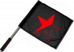 """Zum/zur  Fahne / Flagge (ca. 40x35cm) """"Schwarz/roter Stern"""" für 11,00 € gehen."""