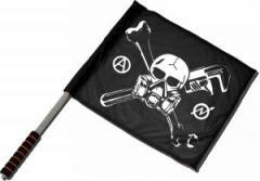 """Zum/zur  Fahne / Flagge (ca 40x35cm) """"Skull - Gasmask"""" für 11,00 € gehen."""