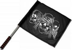 """Zum/zur  Fahne / Flagge (ca 40x35cm) """"Skulls"""" für 11,00 € gehen."""