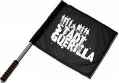 """Zum/zur  Fahne / Flagge (ca 40x35cm) """"Stadtguerilla"""" für 11,00 € gehen."""