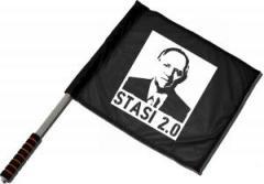 """Zum/zur  Fahne / Flagge (ca 40x35cm) """"Stasi 2.0"""" für 11,00 € gehen."""