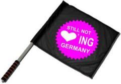 """Zum/zur  Fahne / Flagge (ca. 40x35cm) """"Still not loving Germany!"""" für 11,00 € gehen."""