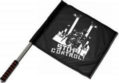 """Zum/zur  Fahne / Flagge (ca 40x35cm) """"Stop Control"""" für 11,00 € gehen."""