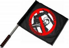 """Zum/zur  Fahne / Flagge (ca. 40x35cm) """"Stoppt Polizeigewalt"""" für 11,00 € gehen."""