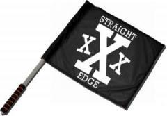 """Zum/zur  Fahne / Flagge (ca. 40x35cm) """"Straight Edge"""" für 11,00 € gehen."""