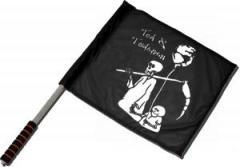 """Zum/zur  Fahne / Flagge (ca. 40x35cm) """"Tod und Tötchen"""" für 11,00 € gehen."""