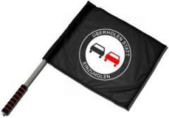 """Zum/zur  Fahne / Flagge (ca. 40x35cm) """"Überholen statt Einzuholen"""" für 11,00 € gehen."""