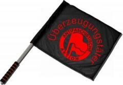 """Zum/zur  Fahne / Flagge (ca 40x35cm) """"Überzeugungstäter Fahnen"""" für 11,00 € gehen."""